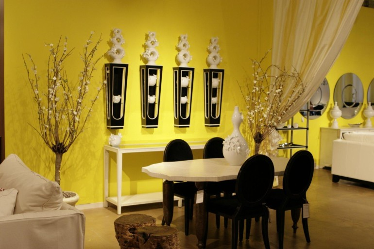 Exciting Yellow And Black Dining Room Contemporary - Best Ideas ...