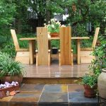 amazing outdoor dining table elegant wooden chair garden dining tablestoned floor dining area