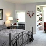 cozy Teen Bed room Decorating Ideas With Pink Arm chair plus Black Iron Mattress Body As Effectively Lamp Desk Corner And E-book Shelve and Window Also Gray Mattress Cowl Concepts