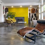 elegan colorfull  living room comfy chair with animal pattern yellow fabric living room chair wooden living room ornament brown living room sofa