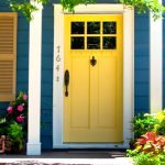 residence plan exterior stain colours ideas suggestions footage for painting your home with yellow entrance door and blue wall paint and white accent finest exterior stain colors combos for homes 2015