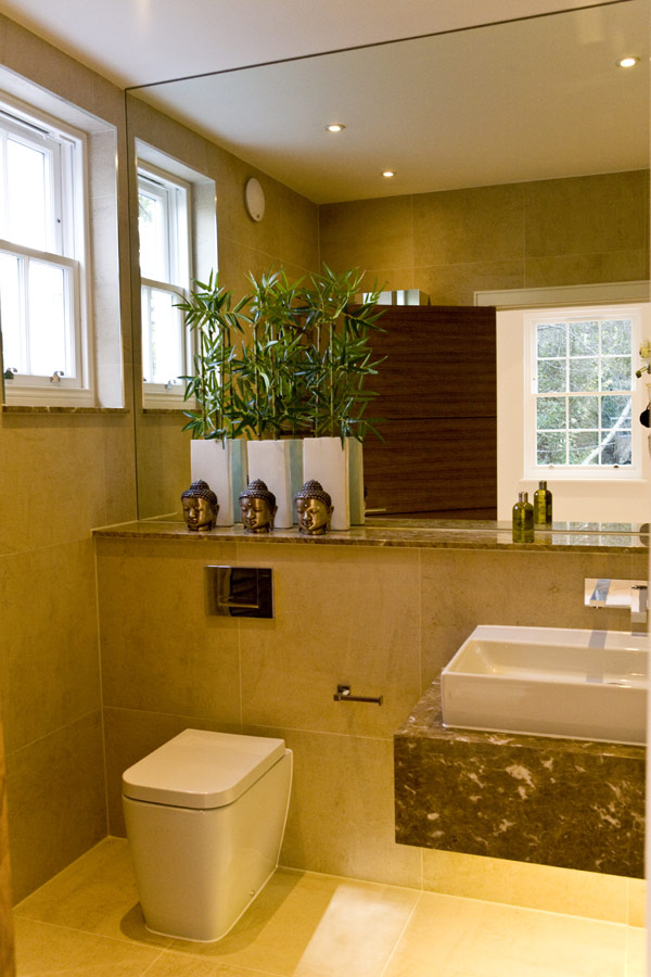Simple Water Closet Marble Bathroom Wall Square