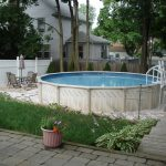 Beautiful intex swimming pool on the wide back yard with beautiful canopy