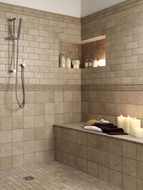 Bathroom Floor Tile Ideas Allwhite Farmhouse Kitchen With Wicker – Wall Tiles for Bathrooms