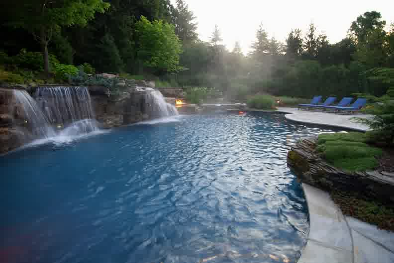 10 gorgeous inground swimming pools that will leave your for Pool design nj