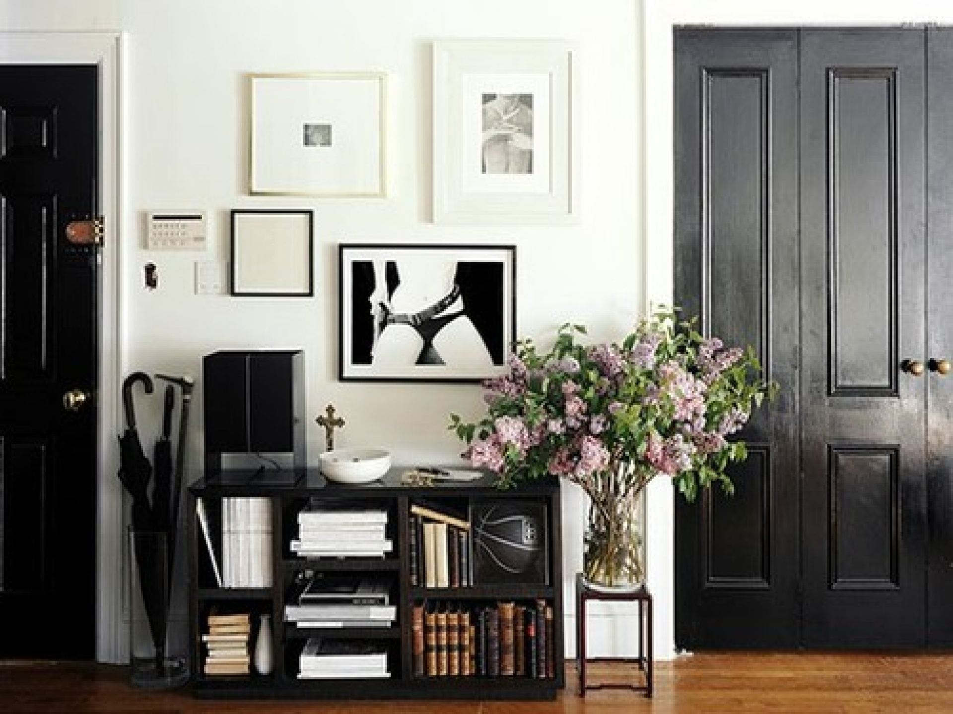 Black Painted Interior Doors Why Not Homesfeed Bookcase White