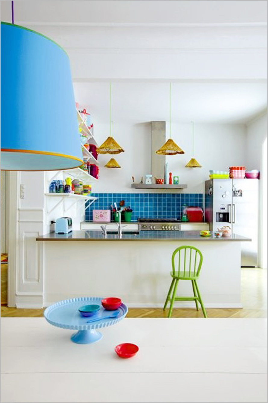 how to sprinkle your kitchen with colors? | homesfeed
