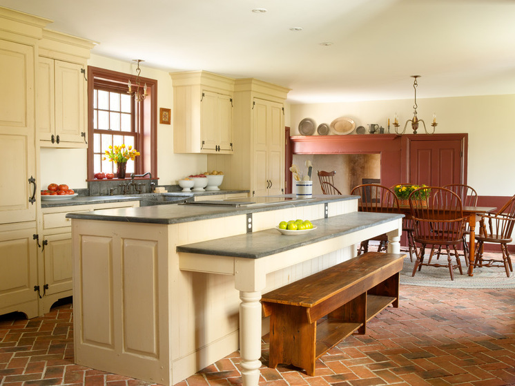 Elegant farmhouse kitchen for your inspiration homesfeed for Half island kitchen