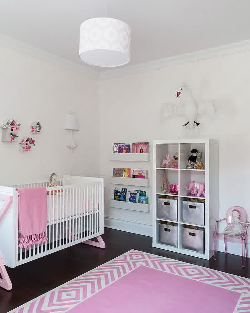 Toddler Girl Room Interior Design: 12 Playful Pink Nursery Room Ideas For Your Baby Girl