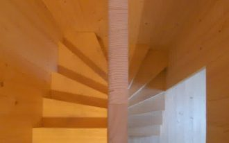contemporary staircase wimple wood staircase without railing attached wall stairs light brown wooden wall altes hopiz staircase