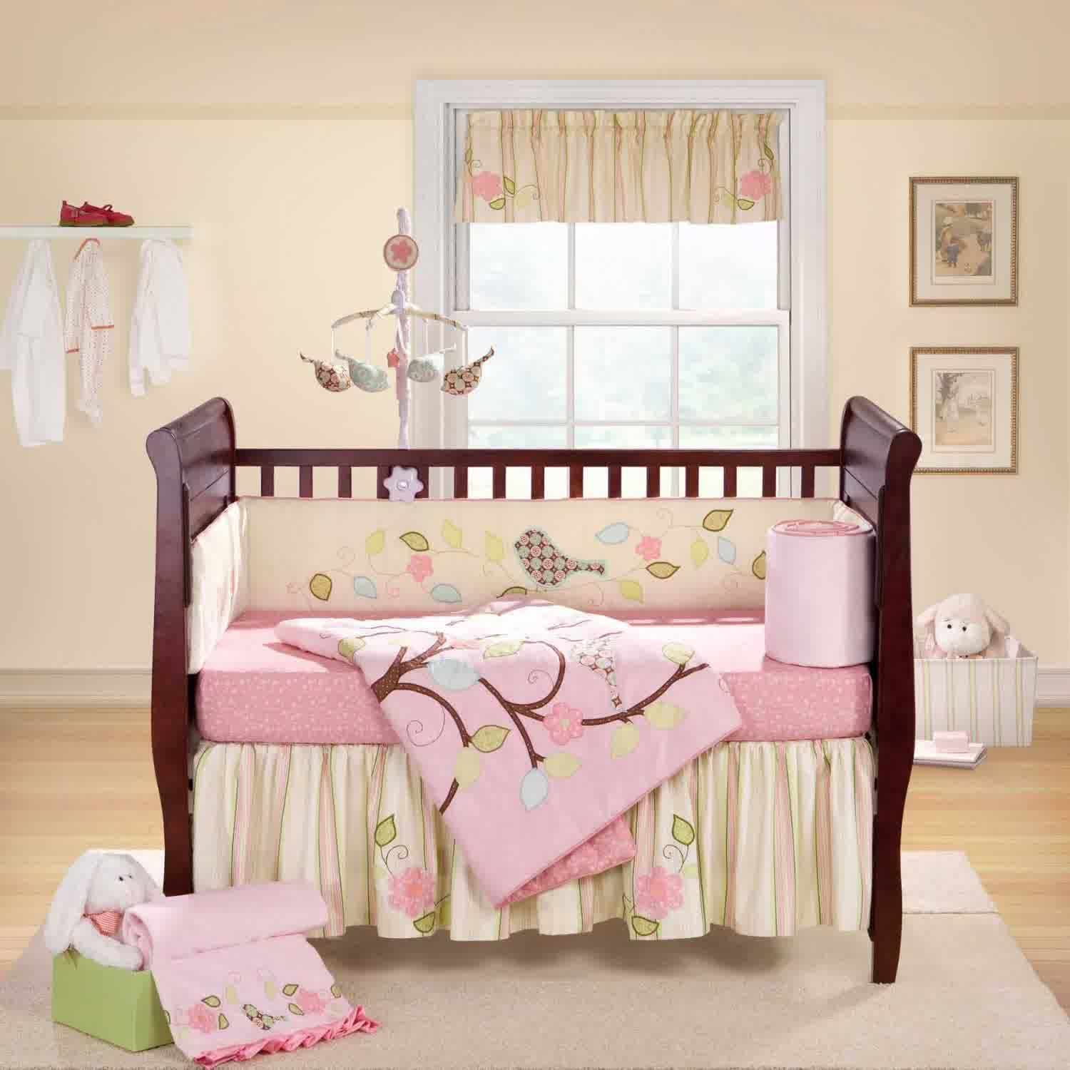 Refreshing go green design for nursery homesfeed for Cream and pink bedroom ideas
