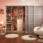 Cute Pink Kids Room With Large Closet Ideas Feat Magnificent Drawers Also Unque Round Sitting With Round Rug In Hardwooden Flooring