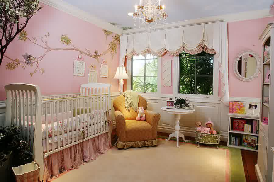 7 Inspiring Kid Room Color Options For Your Little Ones: 12 Playful Pink Nursery Room Ideas For Your Baby Girl