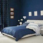 Elegant Big Bed Room Measurement Design Ideas With White Plus Blue Frames Design Ideas White Plus Blue Trendy Bedroom Design