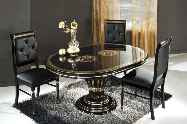 Get simple look with black dining room sets homesfeed - Wonderful antique dining room ideas elegant supper time ...