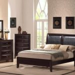 elegant Dark Wood Drawer Desk Nook plus Dresser Including Beige Rug Hardwood Floor Retro Basic Wood Queen Modern Platform Mattress