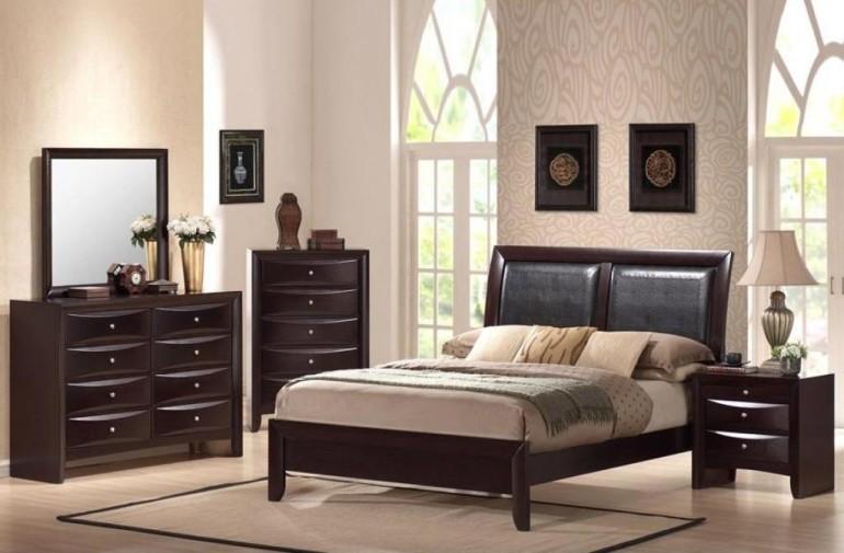 Elegant Dark Wood Drawer Desk Nook Plus Dresser Including Beige Rug  Hardwood Floor Retro Basic Wood