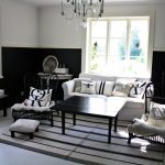 elegant Darkish Picket Table Additionally White Sofa Front Glasses Window Alongside With Self-importance Nook Ideas Lovable Living Room Inside Design Elegant Steel Chair Striped fur  Rug