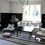 elegant Darkish Picket Table Additionally White Sofa Front Glasses Window Alongside With Self-importance Nook Ideas Lovable Living Room Inside Design Elegant Steel Chair Striped fur  Rug