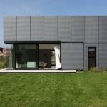 elegant Glasses Nook Window And Inexperienced Grass Ideas wonderful metal Facade concept For Modern House
