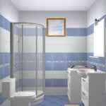 elegant Glasses Shower Corner Together with White Self-importance Sink Washing Machine Nice Lavatory Decoration Ideas White Blue Tile Wall