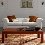 elegant Orange Pillow White Couch also Frame On The Wall Attention-grabbing Living area Brown Wood Table Set Design