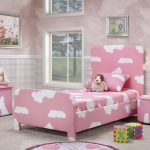 elegant Pouffe With Picture Body Decor On Wall also Dool Awesome Ladies Bedroom Pink Bedding Color