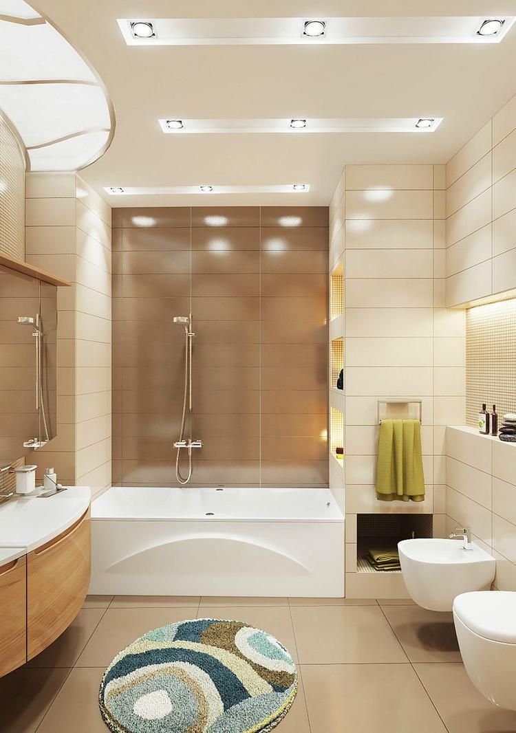 What you must pay attention to about bathroom tile designs homesfeed - Beige bathroom designs ...