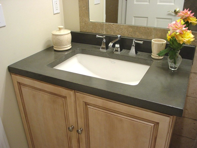 Making use of a bathroom design tool for a practical designing project homesfeed for Bathroom sink granite countertop