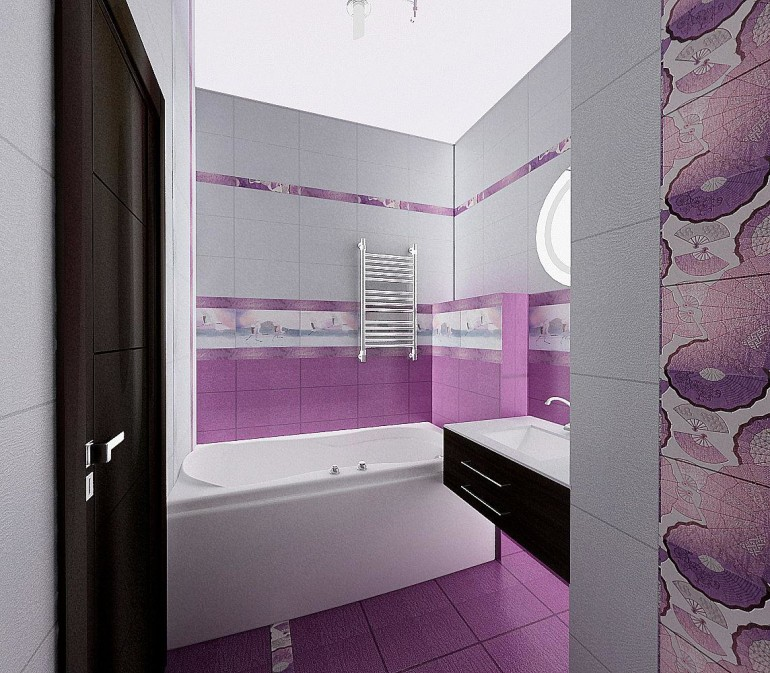 The best small bathroom remodel ideas homesfeed Purple and black bathroom ideas