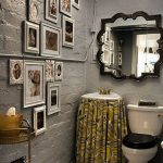 elegant Small Area Toilet Design Ideas With The Photo Frame Decoration Rest room Layout Ideas