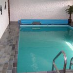 elegant Small Indoor Swimming Pool Ideas With beautiful wallpaper