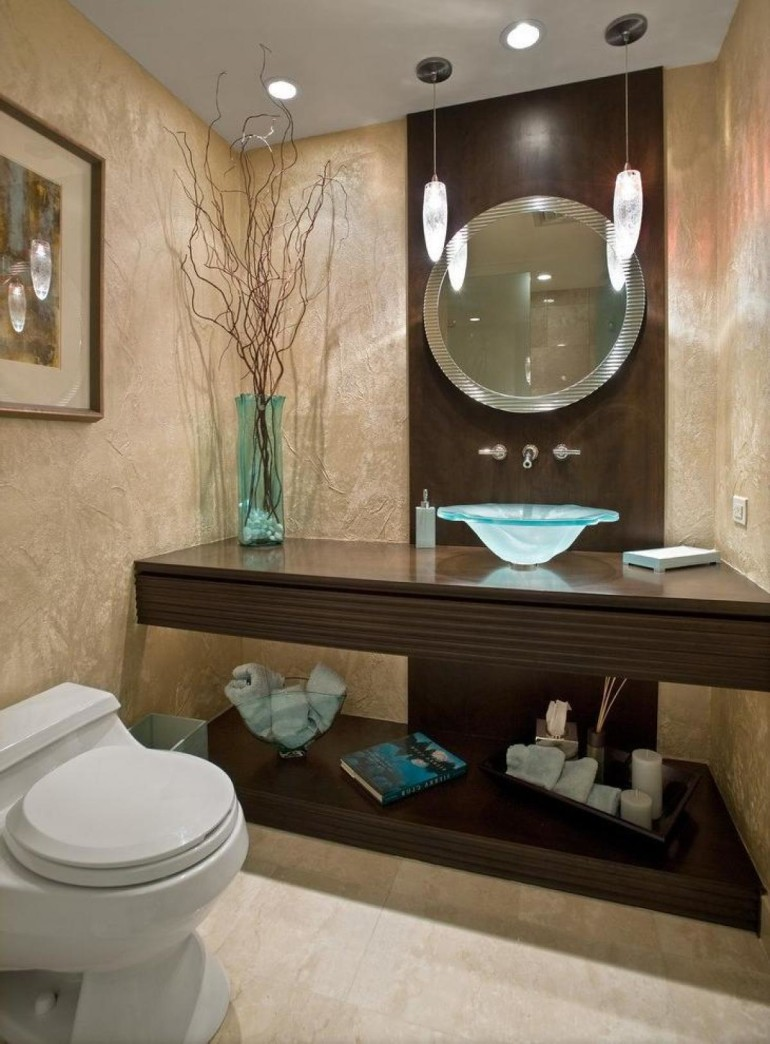 The parts of bathroom that need to be optimized to appray for Toilet decor pictures