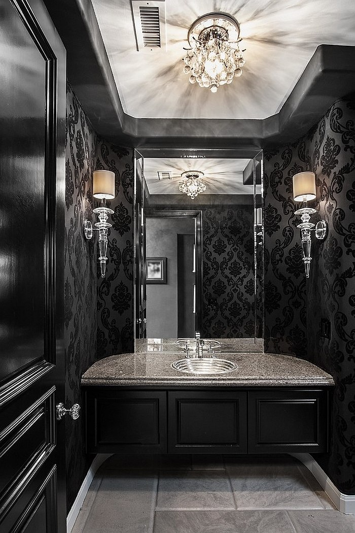 Sophisticated Black Bathroom To Create Natural Ambiance