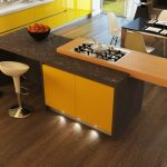 great Kitchen Island Stools Including Yellow Backsplash plus Dining Desk Set On Wood Ground wonderful Kitchen Lighting Concepts