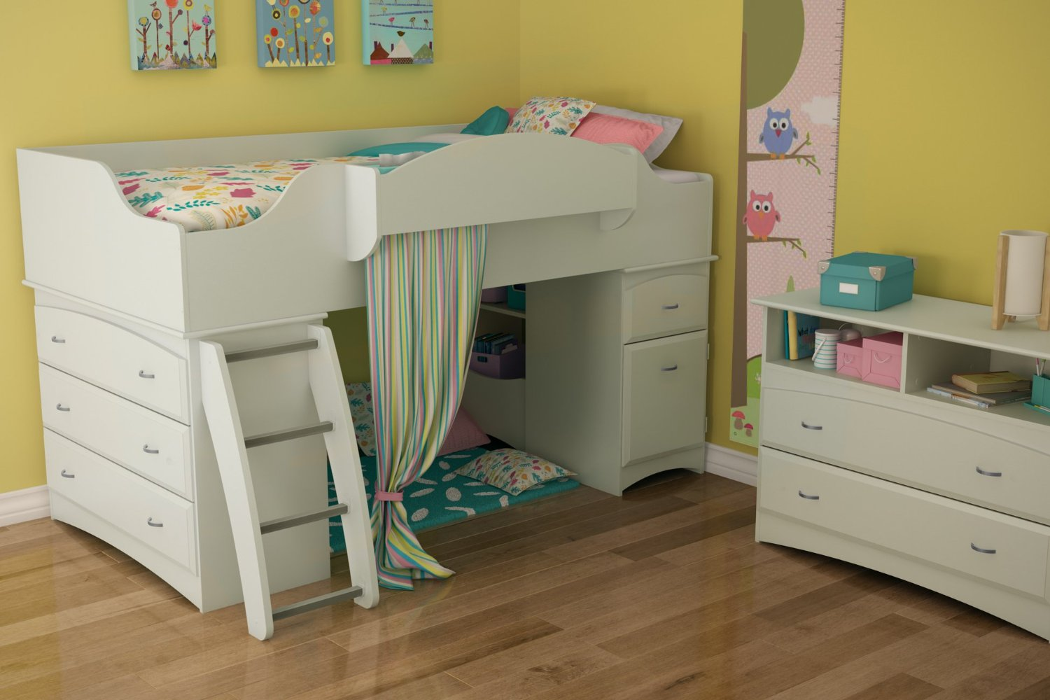 Beautiful loft beds for your kids homesfeed for Beautiful beds for girls