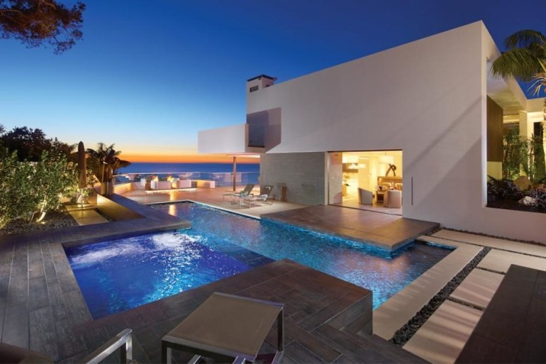 lovely Outside Residing Area In Terrace Together with Garden In The Close by Beautiful Seashore Home Design swimming Pool In Backyard Ideas