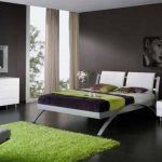 luxurious Inexperienced Rug For Modern Bedroom Additionally With Woman Photo As Decoration Green Bed room With Combination Black Class Design