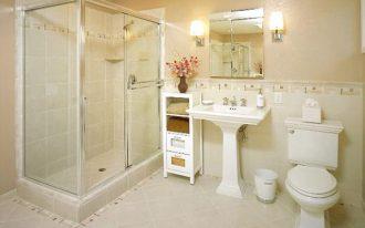 magnificenet small bathroom cute creamy shade elegant white washing stand interesting square glass shower elegant tile flooring