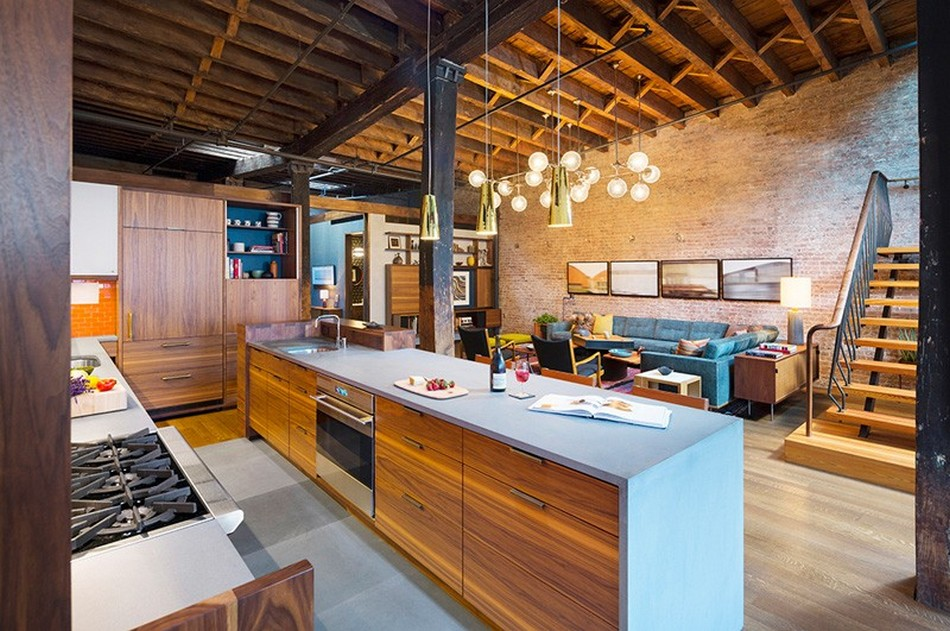 Astounding loft renovation from what used to be a caviar - Loft industriel tribeca franz architecte ...