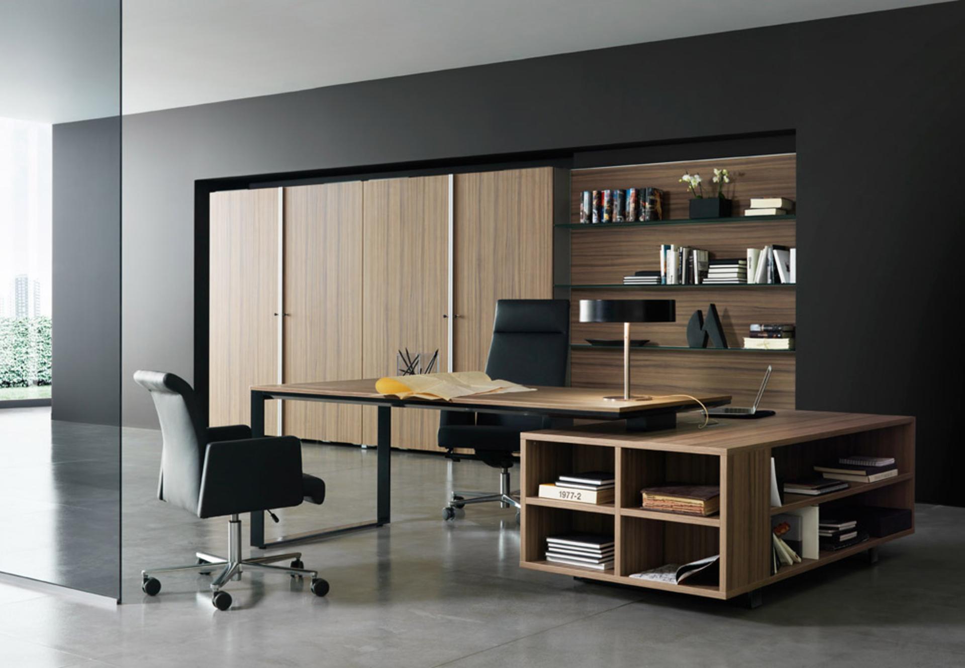 Home Office Cabinet Design Ideas. Wooden Corner Desks For Home ...