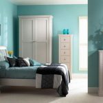 Perfect Coloration Mixture Inside Bedroom Scheme Blue And White Colour With Solar Flowers Ornament