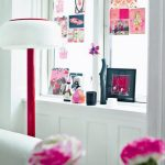 red Synthetic Flowers plus Windows Decoration White Colour
