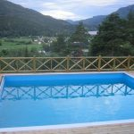 stunning Landscape Mountain View Picket Deck Pool Ideas With Wooden Fence Superior Swimming pool decorations