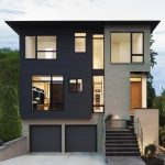 superb Wall Palette Also Brown Front Door To Decide Exterior stained Colors For Your House Charming Home Paint Coloration Schemes Showcasing Modern Home With Deep Grey