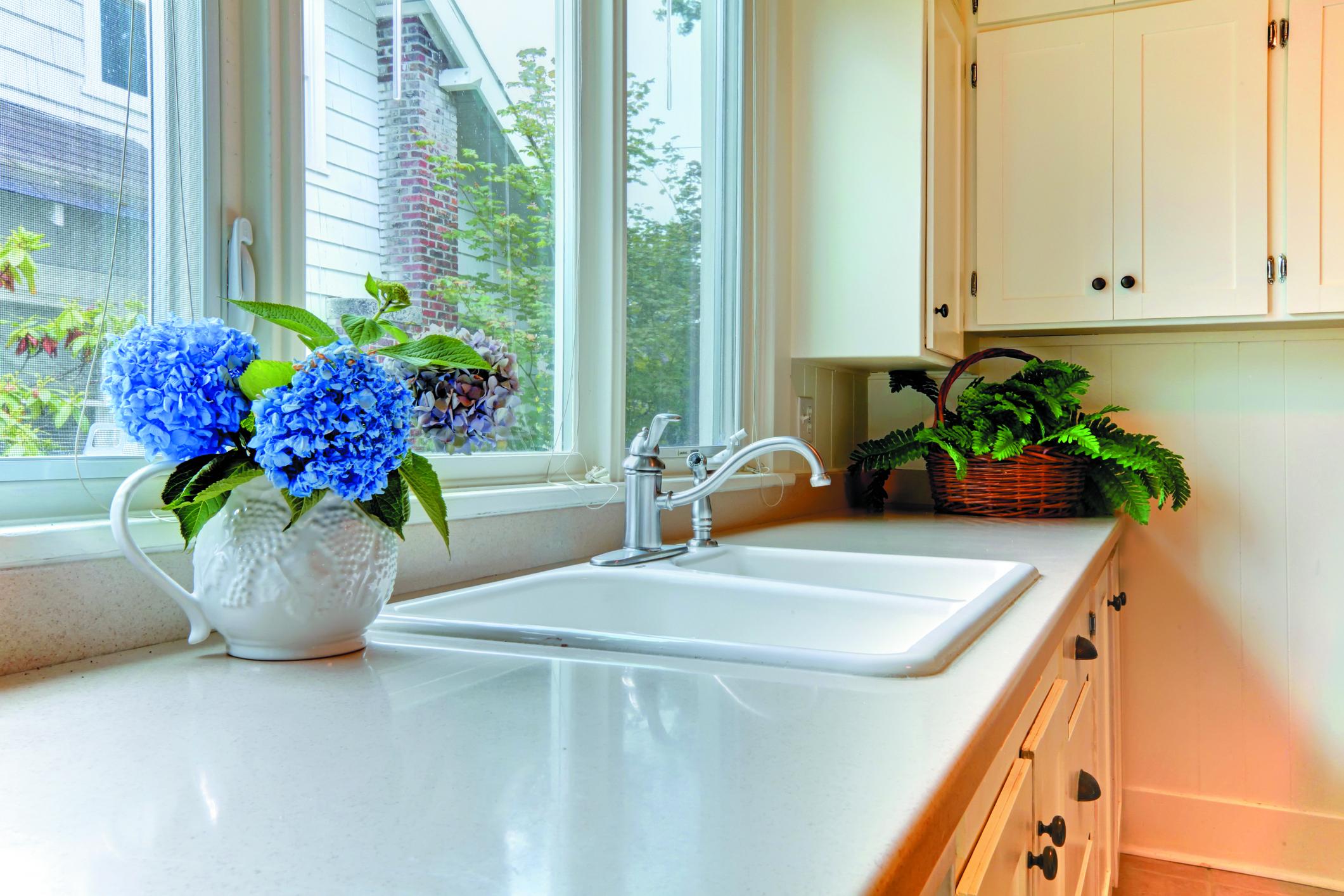 White Marble Kitchen Countertop White