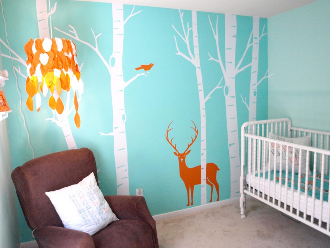 Refreshing go green design for nursery homesfeed for Mural go green