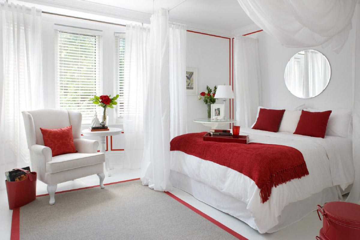 Wanna be an interior stylist these little sneak peek will for How to decorate a red bedroom