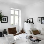 wonderful Frame On The Wall Together with Wooden Floor Elegant White Chair Dwelling Room Decoration Ideas With Material Couch Additionally Small Self-importance Corner Beside Double Glasses Door