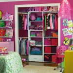 wonderful closet ideas for kids with magnificent pink wall decol feat small yellow study desk and wonderful warm fur rug in glossy laminate flooring